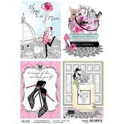 Shoes Ephemera Cards A4 Rice Paper Sheet