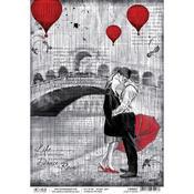 Love In Venice A4 Rice Paper Sheet - PRE ORDER
