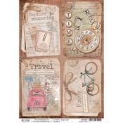 Travel Ephemera Cards A4 Rice Paper Sheet