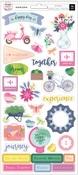Horizon Cardstock Stickers - Pink Paislee