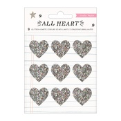All Heart Holographic Glitter Hearts - Crate Paper