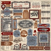 Mister Cardstock Details Stickers - Authentique - PRE ORDER