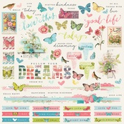 Combo Sticker - Simple Vintage Botanicals - Simple Stories