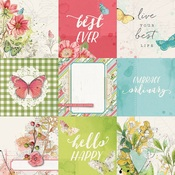 4x4 Elements Paper - Simple Vintage Botanicals - Simple Stories - PRE ORDER