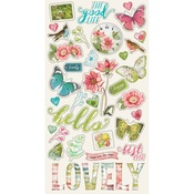 Chipboard Stickers - Simple Vintage Botanicals - Simple Stories