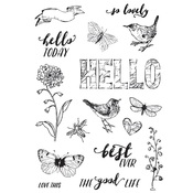 Love Life Stamps - Simple Vintage Botanicals - Simple Stories