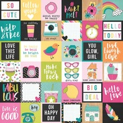 2x2 Elements Paper - Oh Happy Day - Simple Stories - PRE ORDER