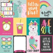 3x4 Elements Paper - Oh Happy Day - Simple Stories