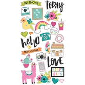 Chipboard Stickers - Oh Happy Day - Simple Stories