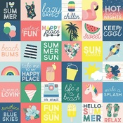 2x2 Elements Paper - Sunshine & Blue Skies - Simple Stories - PRE ORDER
