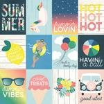 3x4 Elements Paper - Sunshine & Blue Skies - Simple Stories