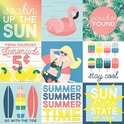 4x4 Elements Paper - Sunshine & Blue Skies - Simple Stories