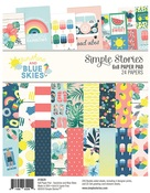 Sunshine & Blue Skies 6 x 8 Paper Pad - Simple Stories - PRE ORDER