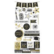 Con-GRAD-ulations Sticker Sheet - Simple Stories