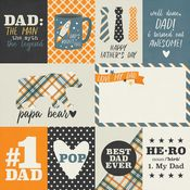 3x4 & 4x6 Elements Paper - Dad Life - Simple Stories