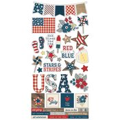 Let Freedom Ring Sticker Sheet - Simple Stories