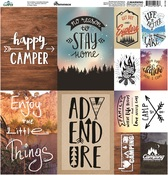 Happy Camper Poster Style Stickers - Reminisce