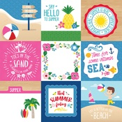 4X4 Journaling Cards Paper - I Love Summer - Echo Park