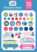 I Love Summer Decorative Brads - Echo Park
