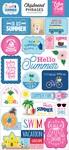 I Love Summer Chipboard Phrases - Echo Park
