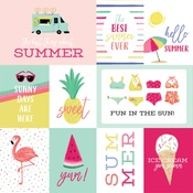 Journaling Cards Paper - Best Summer Ever - Echo Park