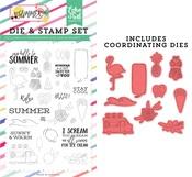 Say Hello To Summer Die & Stamp Set - Echo Park