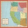 US West Coast Map Paper - Cartography - Carta Bella