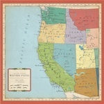 US West Coast Map Paper - Cartography - Carta Bella