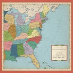 US East Coast Map Paper - Cartography - Carta Bella