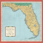 Florida Map Paper - Cartography - Carta Bella