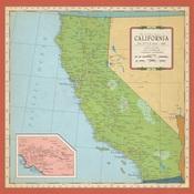 California Map Paper - Cartography - Carta Bella