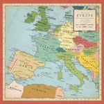Europe Map Paper - Cartography - Carta Bella