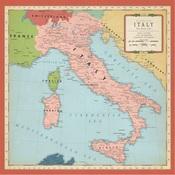 Italy Map Paper - Cartography - Carta Bella