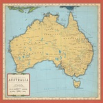 Australia Map Paper - Cartography - Carta Bella