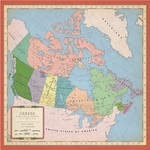 Canada Map Paper - Cartography - Carta Bella