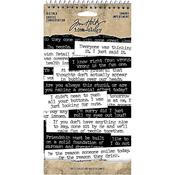 Idea-Ology Snarky Big Talk Stickers Tablet - Tim Holtz