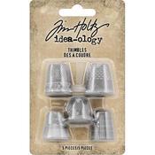Mixed Sizes Idea-Ology Metal Thimbles - Tim Holtz - PRE ORDER