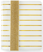 A5 - Gold Stripe Binder Only - Websters Pages - PRE ORDER