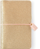 Gold Glitter Traveler Notebook - Websters Pages - PRE ORDER