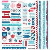 Doohickey Cardstock Stickers - Fireworks & Freedom - Bella Blvd