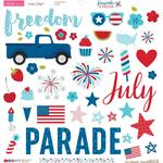 Fireworks & Freedom Chipboard Stickers - Bella Blvd