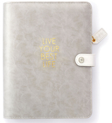 A5 - Grey Live Your Best Life Binder Only - Websters Pages - PRE ORDER