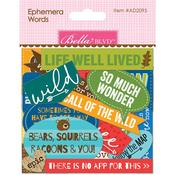 Words Bella Blvd Let's Go On An Adventure Ephemera Cardstock - PRE ORDER