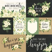 White Rose Journaling Cards Paper - Botanical Garden - Carta Bella - PRE ORDER