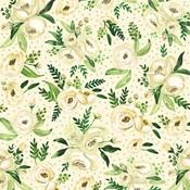 White Rose Spray Paper - Botanical Garden - Carta Bella