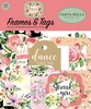 Botanical Garden Frames & Tags - Carta Bella Ephemera Cardstock Die-Cuts. Perfect for all your paper crafting needs! This package contains 33 pieces. Acid and lignin free.