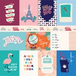 3X4 Journaling Cards Paper - Let's Travel - Carta Bella