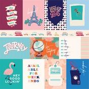3X4 Journaling Cards Paper - Let's Travel - Carta Bella - PRE ORDER
