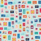Postage Stamps Paper - Let's Travel - Carta Bella - PRE ORDER