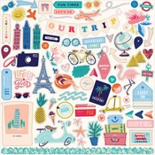 Let's Travel Element Sticker - Carta Bella